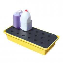 Vaschetta di stoccaggio e raccolta in polietilene per fusti e serbatoi piccoli da 31 litri