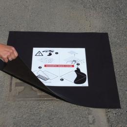Piastra di chiusura magnetica per pozzetto 900 x 900 mm