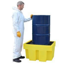 Vasca di contenimento e stoccaggio in polietilene - 1 fusto