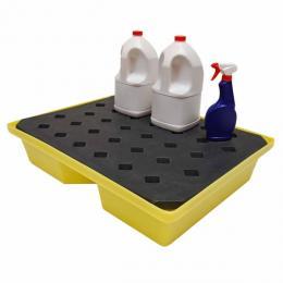 Vaschetta di stoccaggio e raccolta in polietilene per fusti e serbatoi piccoli da 43 litri