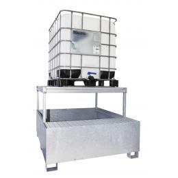 Bacino di contenimento in acciaio con piattaforma - 1 IBC